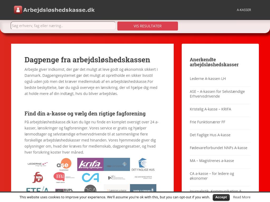 grafik arbejdsløshedskasser i danmark